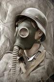 Gas mask. — Stock Photo