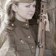 Girl of WWII — Stock Photo