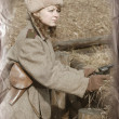 Stock Photo: Soviet girl of 1940-th