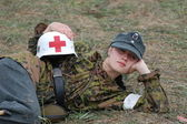 German Red Cross (DRK) at WWII — Stock Photo