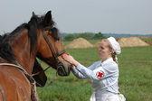 немецкий красный крест (дрк) в великой отечественной войне — Стоковое фото