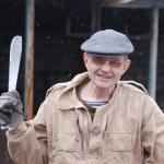 Gardener with machete — Stock Photo #9825378