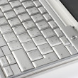 Stock Photo: Silver keyboard