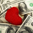 Stock Photo: Love money