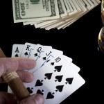 Poker night — Stock Photo