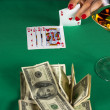 Poker win — Stock Photo