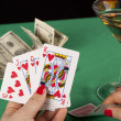 Poker table - Stock Photo