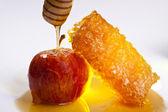 Aplle 和蜂蜜 — 图库照片