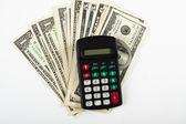 Dólar y calculadora — Foto de Stock