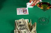 Poker win — Stock Photo