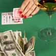 Stock Photo: Poker and money