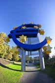 Euro and stars — Stock Photo