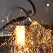 Metal cutting - Stock Photo