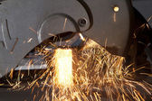 Metal cutting — Stock Photo