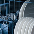 Inside a Dishwasher — Stock Photo