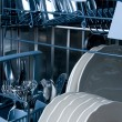 Stock Photo: Inside a Dishwasher