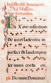 Notas musicales antiguos de música gregoriana — Foto de Stock