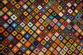 Multi colored blanket — Stock Photo