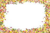 Frame with sprinkles — Stock Photo