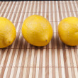 Three lemon — Stock Photo