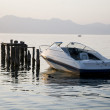 Stock Photo: Boat at Lake Ohrid