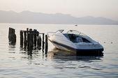 Boat at the Lake Ohrid — Stock Photo