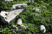 Marble ruins in Ephesus, near Seljuk, Turkey — Stockfoto