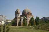 Orthodox church under construction — Stock Photo