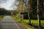 Traffic sign boards at de glind — 图库照片