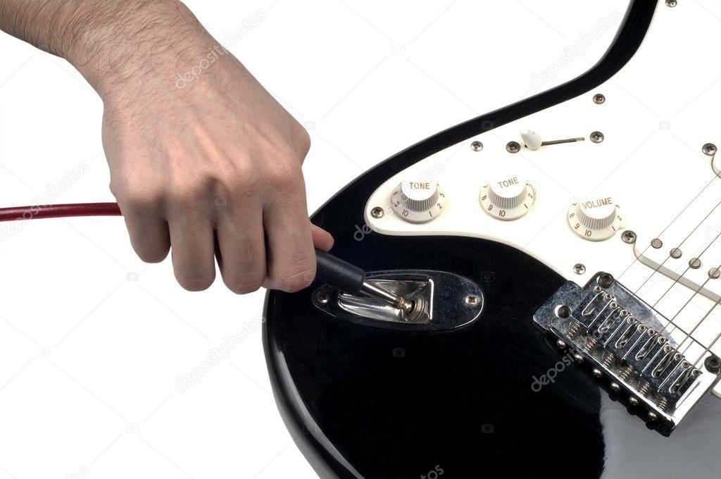 part of electric guitar plugin jack stock photo murme 8936731. Black Bedroom Furniture Sets. Home Design Ideas