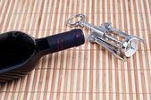 Red Wine and Wine opener — Foto de Stock