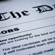 Jobs on Newspaper — Stock Photo
