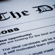 Jobs on Newspaper — Stock Photo