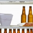 Single man&#039;s fridge - Stock Photo