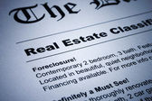 Real Estate ads on Newspaper — Stock Photo