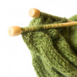Stock Photo: Thread and knitting needle
