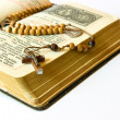 Rosary beads and breviary — Stock Photo