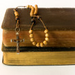Rosary beads and breviary — Stock Photo #8444505