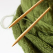Thread and knitting needle - Foto de Stock  