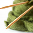 Thread and knitting needle -  