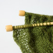 Thread and knitting needle — Stock Photo