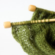 Thread and knitting needle - Stock Photo