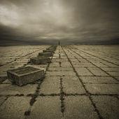 Alone in the square — Stock Photo