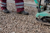 Repairing asphalt — Stock Photo