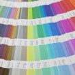 Sampler of pantone colors — Stok fotoğraf