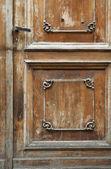 Ancient door fragment — Stock Photo