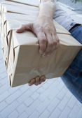 Package delivery — Stock Photo