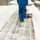 Snow blower — Stock Photo