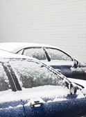 Snow covered cars — Stock Photo