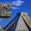 Main pyramid at chichen itza - Stock Photo